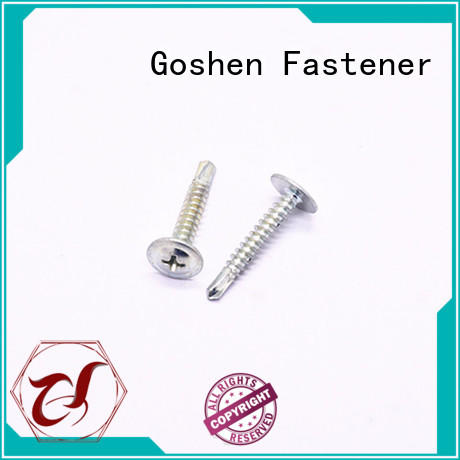 Goshen self drilling wood screws types for construction