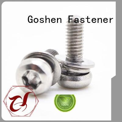 Goshen flat head machine screws types for bridge