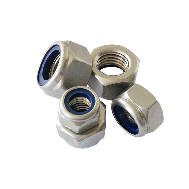 Stainless steel DIN982 hex nylon insert nut