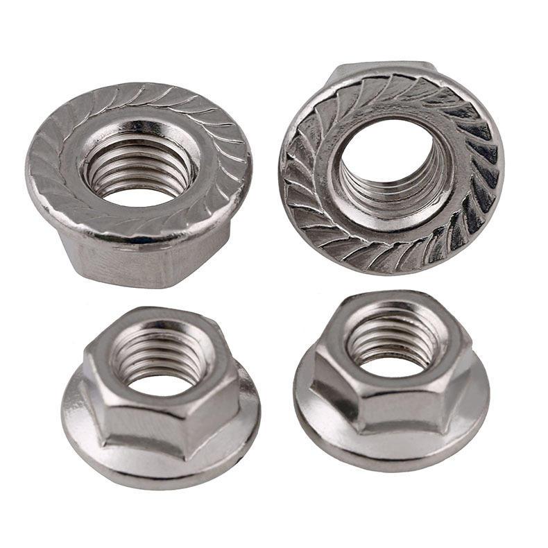 Stainless steel 304 DIN6923 Hex flange head nut