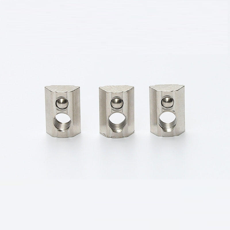Slot Nut Top Square Spring T Nuts with Loaded Ball