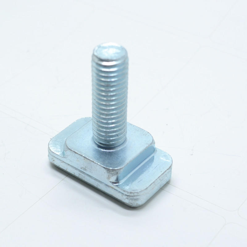 Blue Galvanized square neck T head bolt