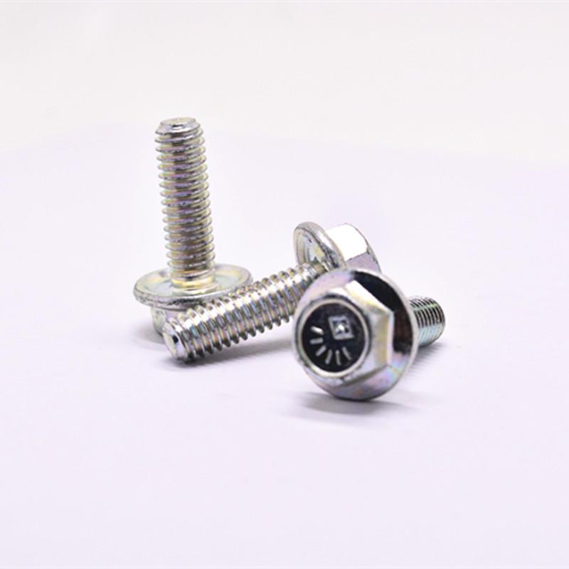 Gr8.8 zinc plated Flange head bolt