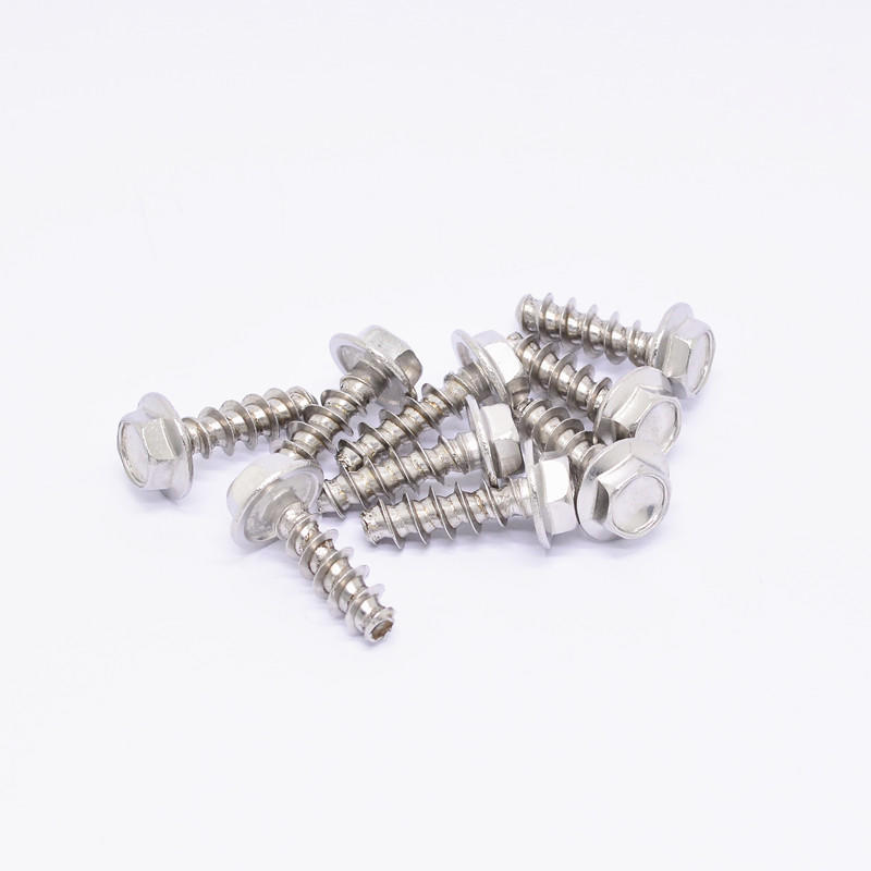 Stainless steel flat end Flange head self tapping screw