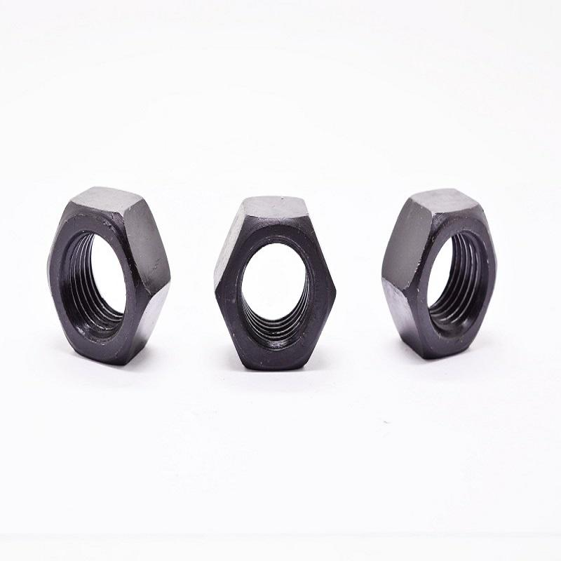 Black ISO4032 M30 hex nut