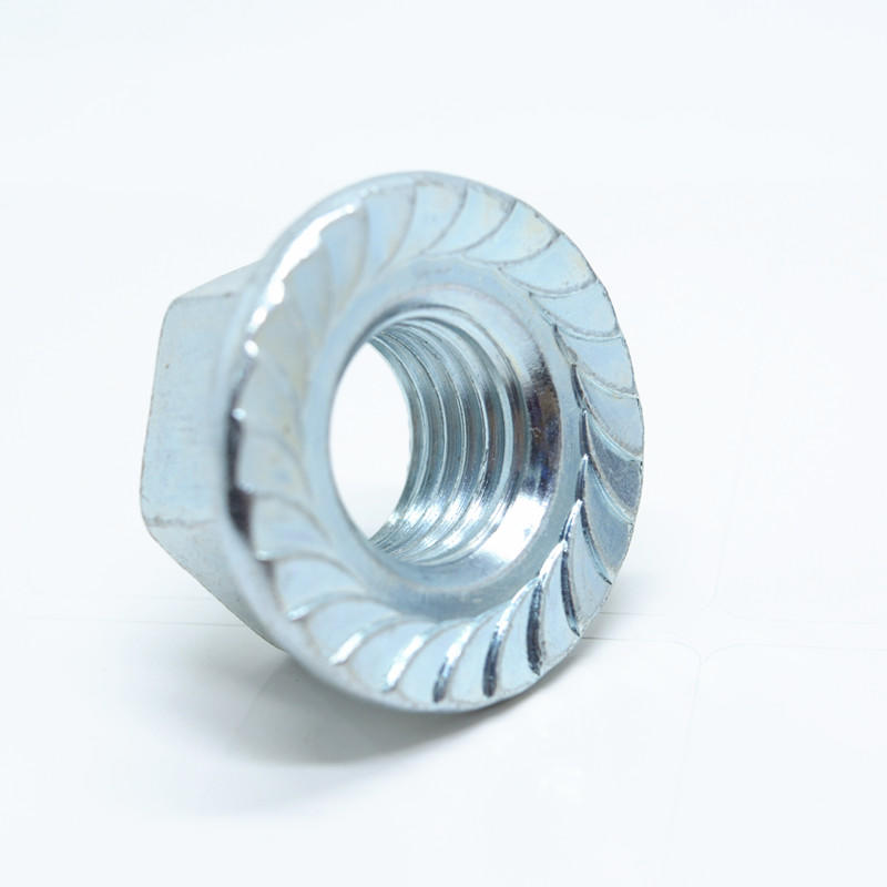 ANSI Blue Zinc plated Hexagon flange nut