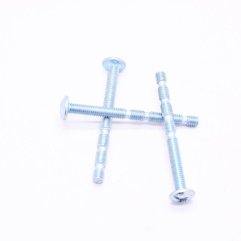 Zinc plated M4*45mm Connecting Screw and Bamboo Shape Screw