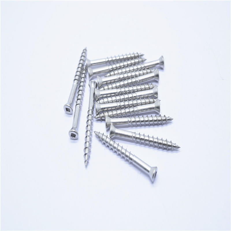 Stianless steel 304 countersunk square slot self-tapping screws