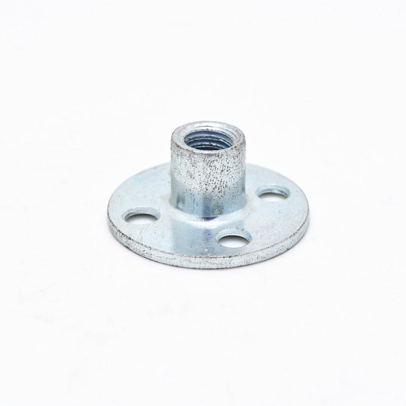 Zinc plated iron round base four holes T nut