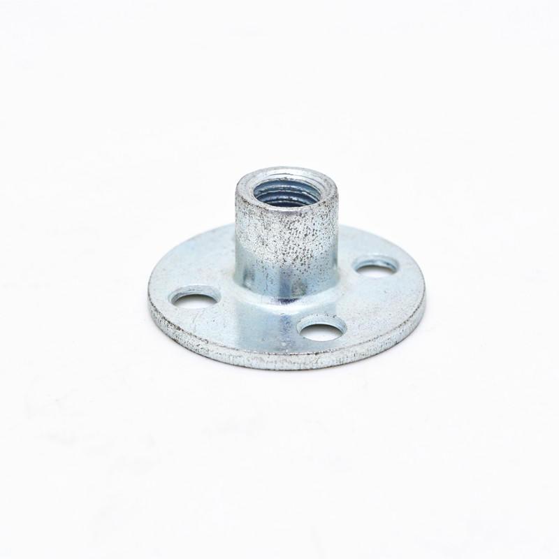 Zinc plated iron round base four holes T nut