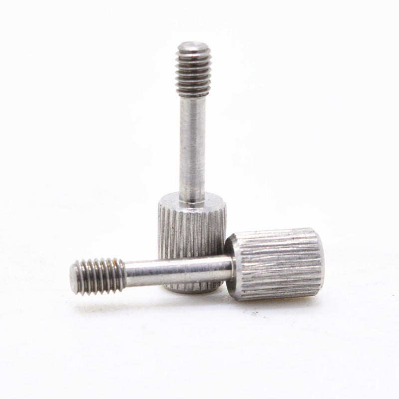 Stainless steel phillps head with knurle screw