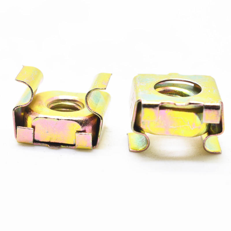 Yellow galvanized M5 M6 cassette nuts