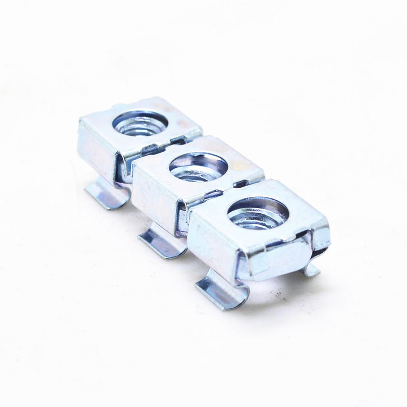 Carbon steel white zinc square lock cage nut