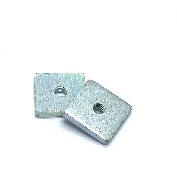Carbon steel Bule zinc plated Custom square nut