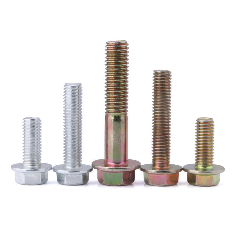 Steel Galvanized gr4.8 hexagon flange head bolts