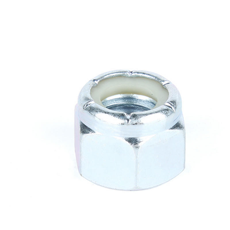 Carbon steel Galvanized DIN985 hex cap nylon insert lock nuts