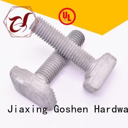 Goshen stainless steel carbon steel T bolt vendor for construction