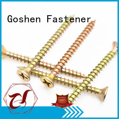 Goshen stainless steel chipboard screws marketing for engineering