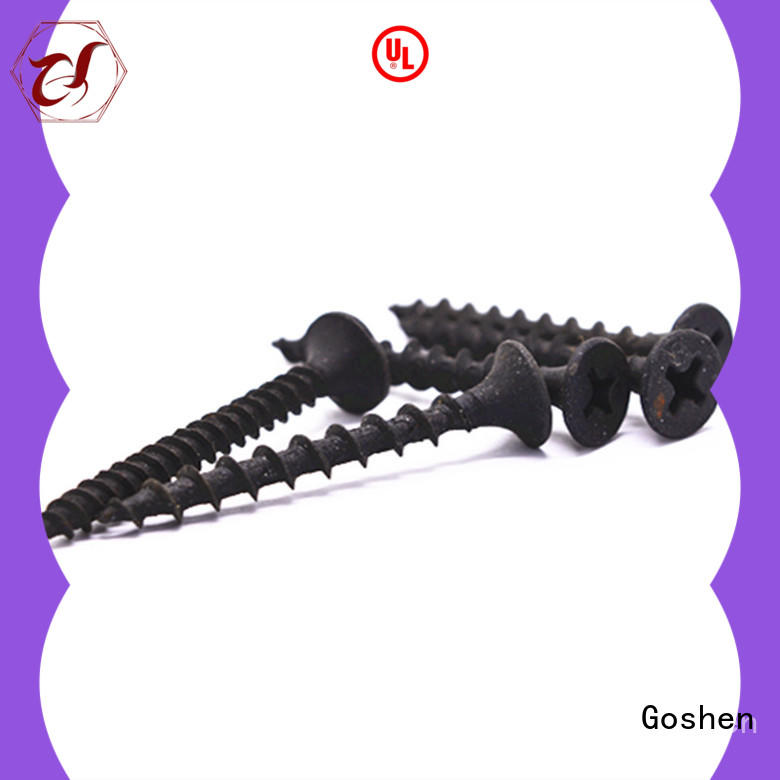 Goshen brushed drywall anchor screws marketing for construction