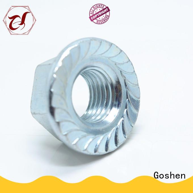 Goshen m10 flange nut supplier for engineering