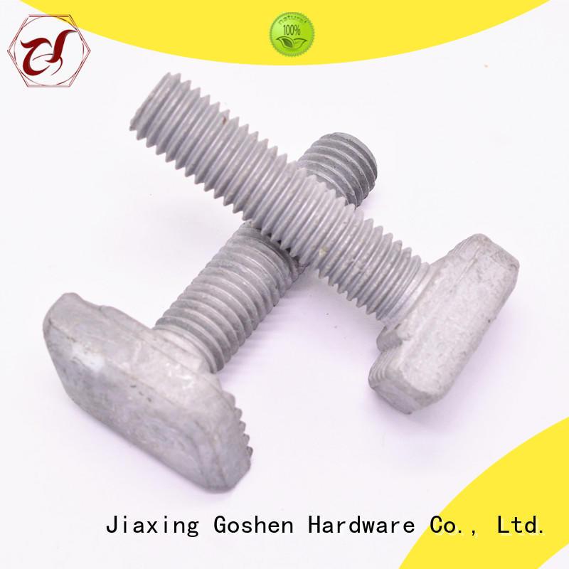 Goshen stable carbon steel T bolt marketing for construction