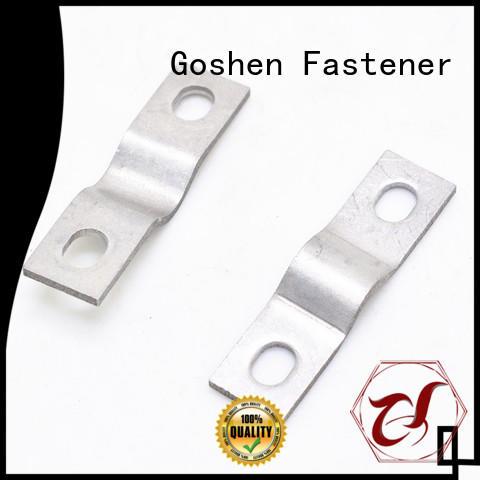 Goshen brushed metal stamping parts in china for engineering