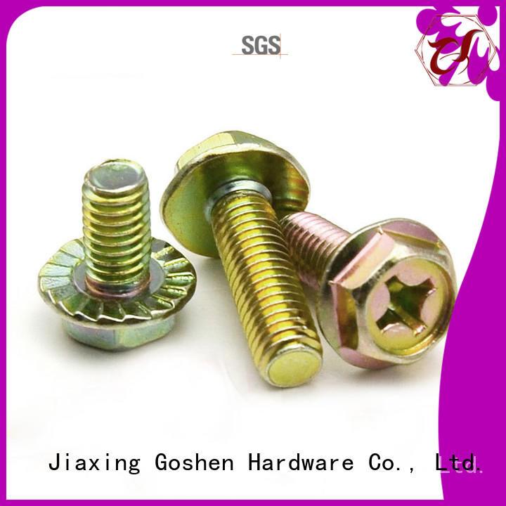Goshen OEM m10x1 25 flange bolt for wholesale for bridge