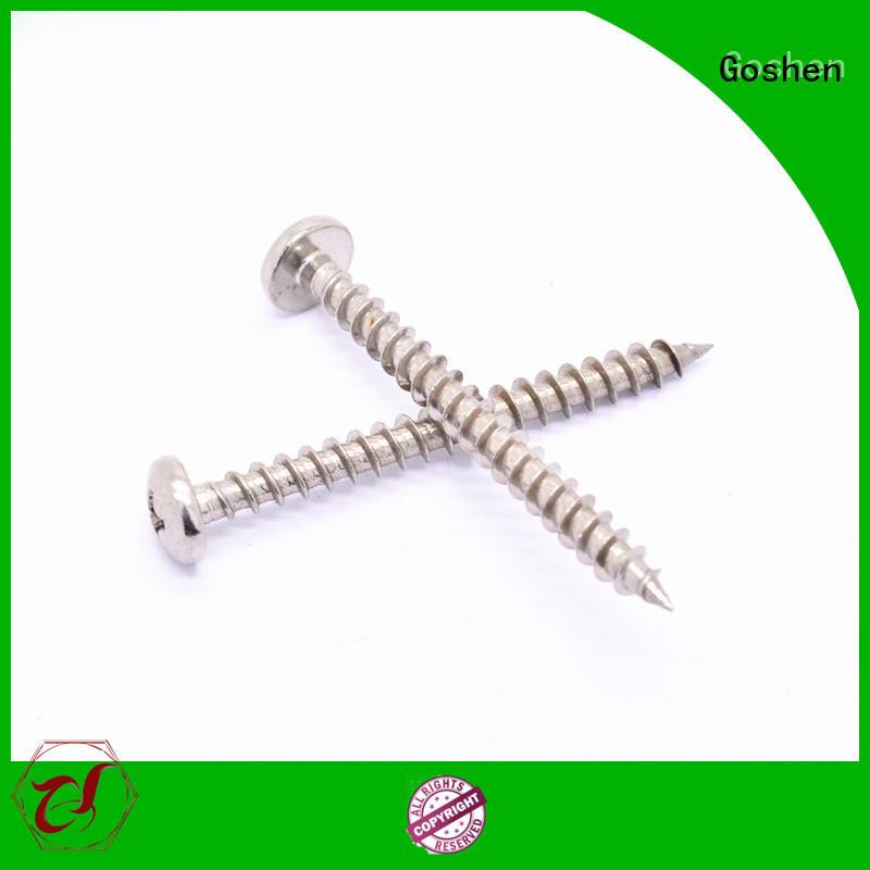 Goshen stainless steel stainless steel self tapping screws marketing for bridge