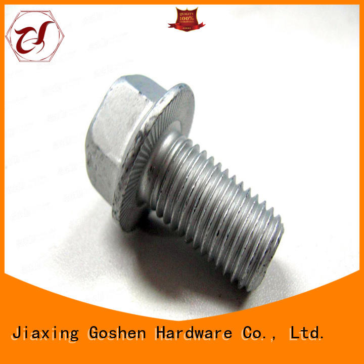 brushed hex flange bolt in china for engineering